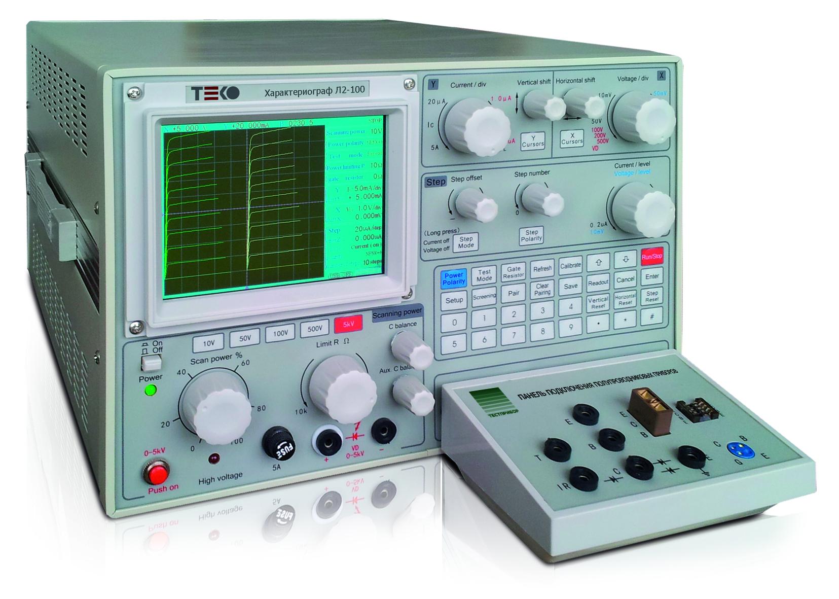 Л2-100 ТЕКО: цифровой запоминающий характериограф полупроводниковых приборов