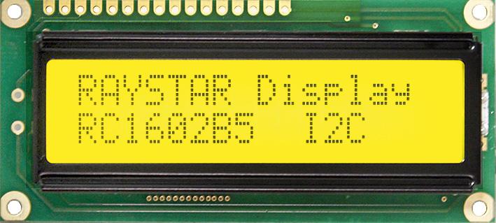 Низкопрофильные символьные ЖК-индикаторы серии RC1602B c интерфейсами SPI и I2C