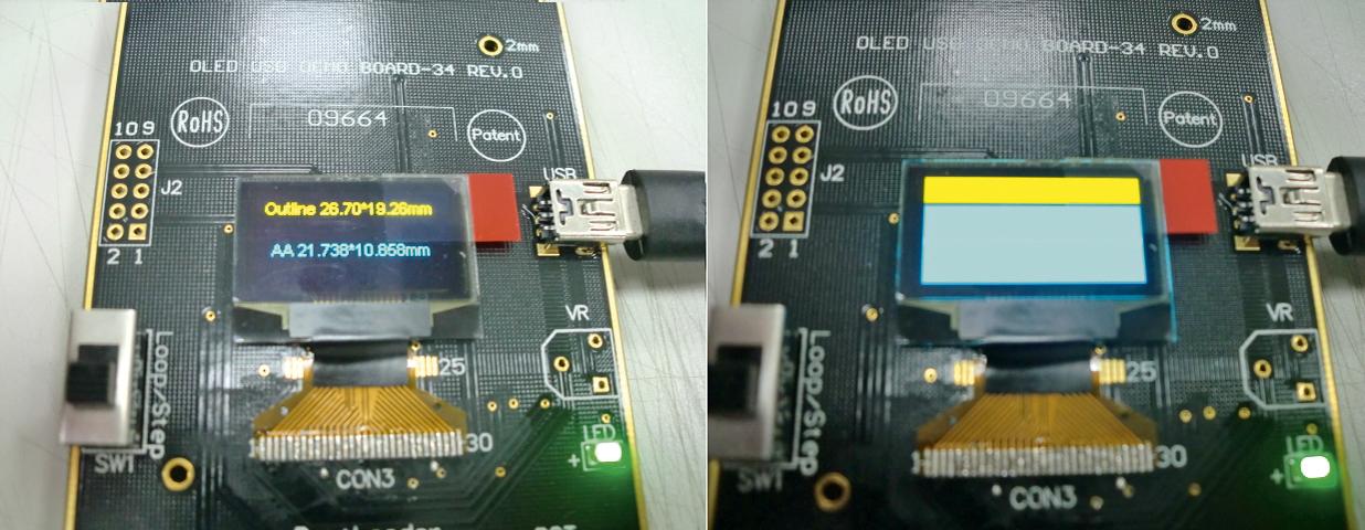 """Двухцветный 0,96"""" графический дисплей OLED REX012864M"""