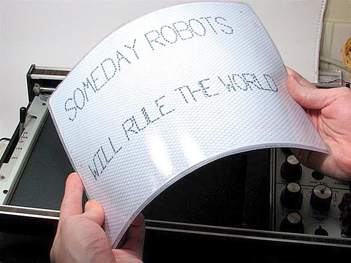 Первый в мире гибкий органический микропроцессор