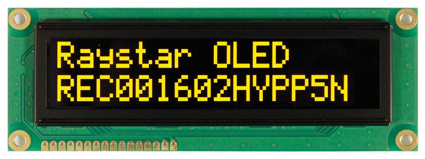 Малогабаритные  OLED-дисплеи серии REC001602H – разнообразие цветов свечения