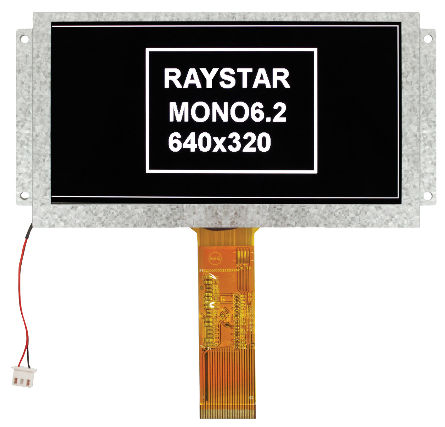 """Монохромный TFT ЖК-дисплей с диагональю 6,2"""" для промышленных применений"""