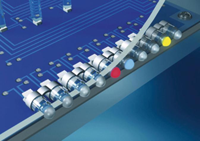 Гибкие цепочки световодов MENTOR с креплением с обратной стороны панели