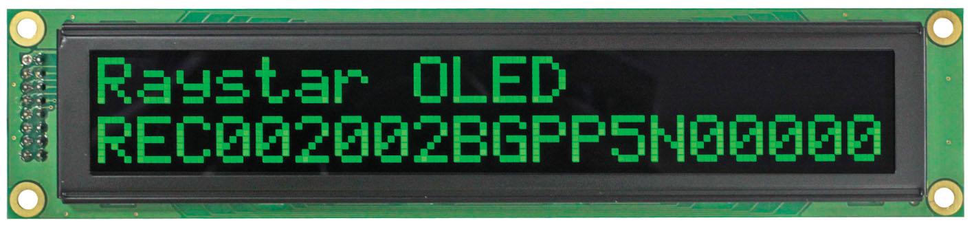 Текстовый OLED-дисплей REC002002B от Raystar Optronics