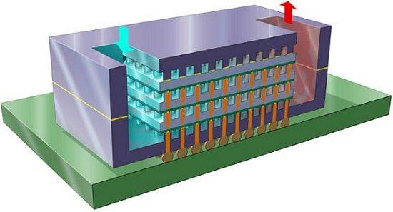 IBM «пронзила» чипы водяными капиллярами