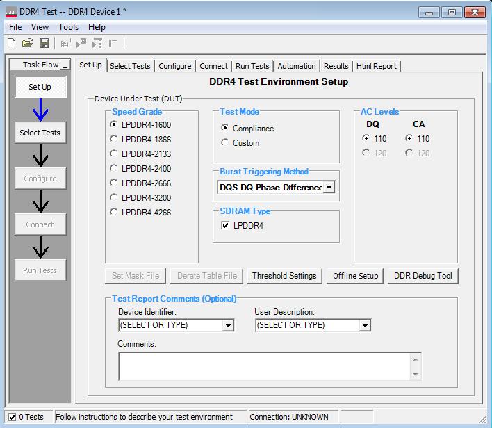 Keysight Technologies: приложение для тестирования памяти LPDDR4