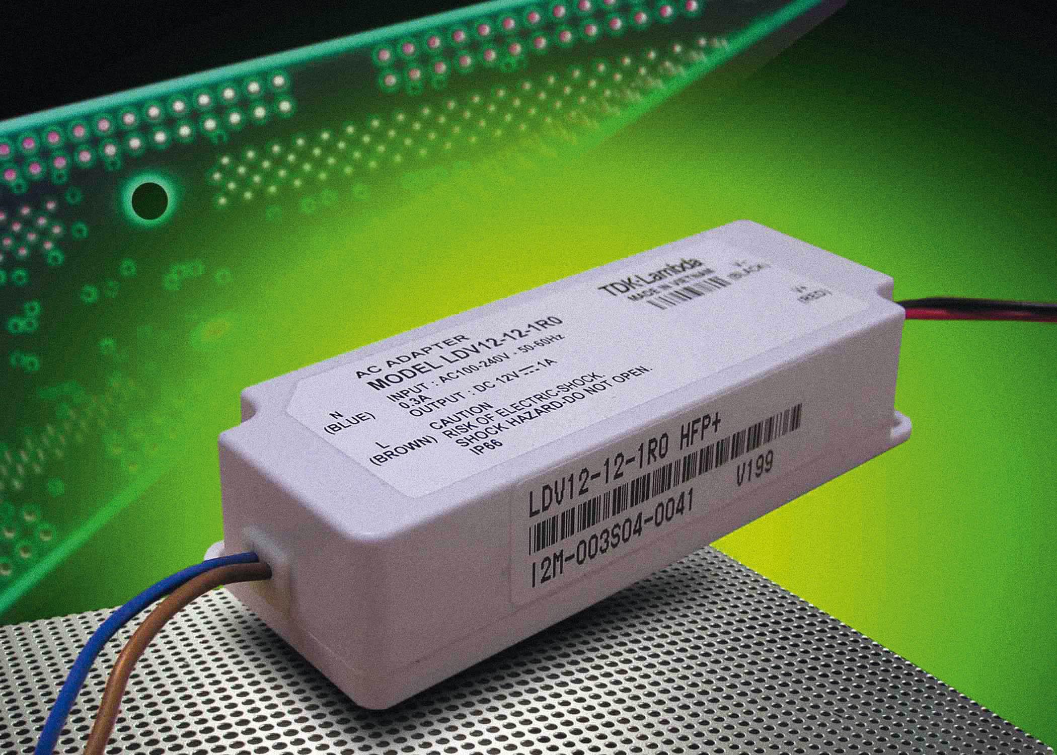 Влагозащищённые 12-Вт источники питания для систем светодиодного освещения от TDK-Lambda