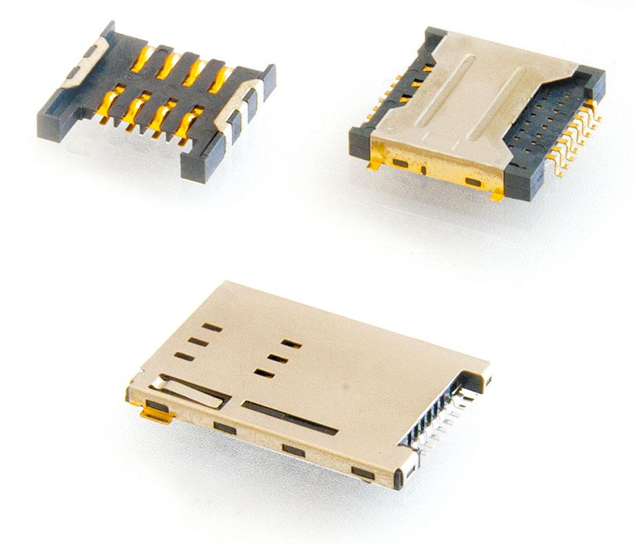 Интерфейсные разъёмы и считыватели SIM- и SD-карт Attend