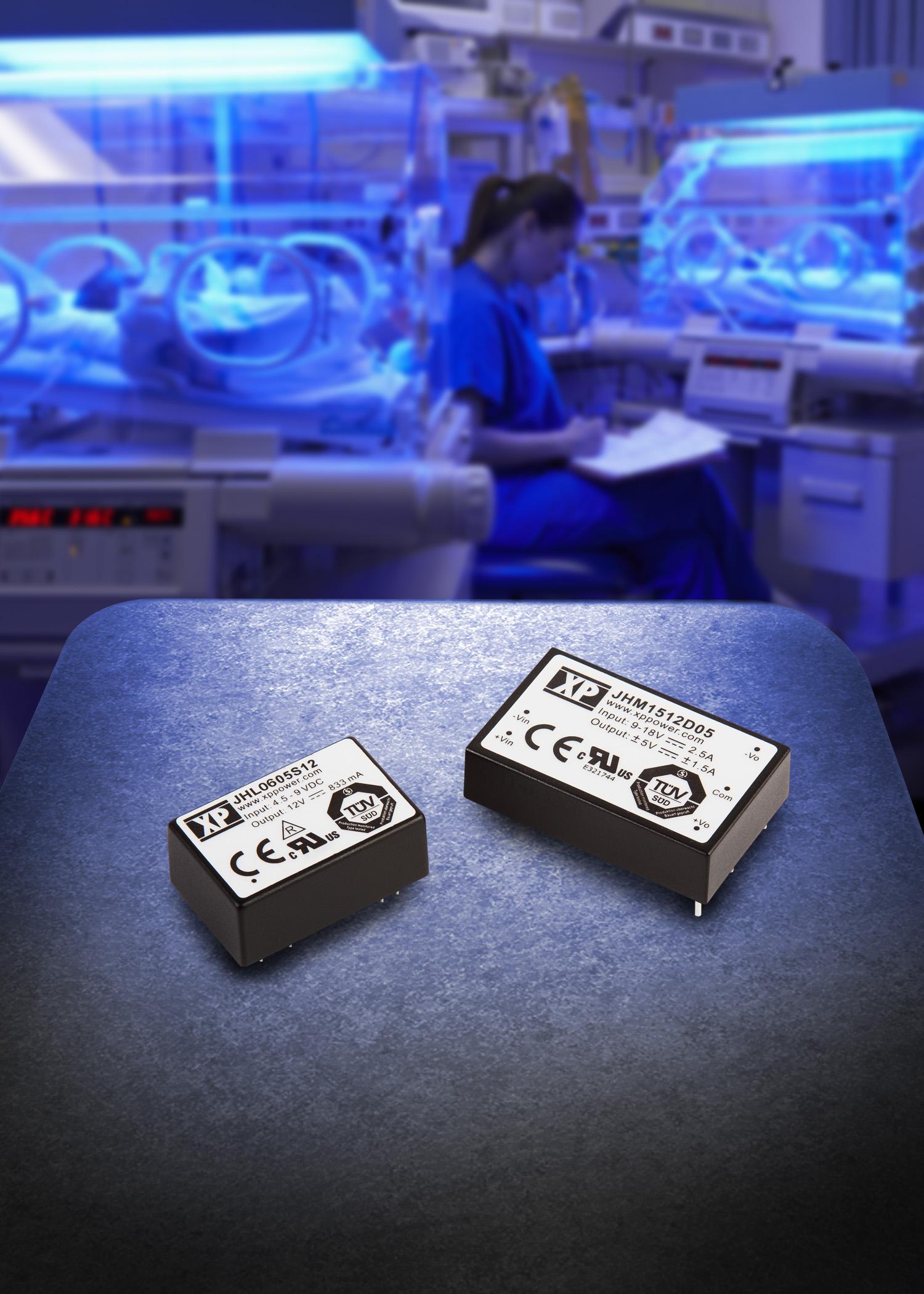 3-, 6- и 15-ваттные DC/DC-преобразователи для медицинского оборудования