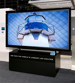 SHARP представляет самый большой ЖК-экран с диагональю 2,75 метра