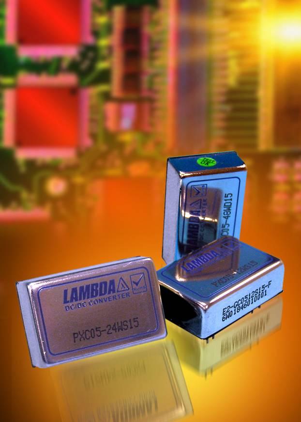 Новые DC/DC-преобразователи компании Lambda c широким диапазоном входного напряжения