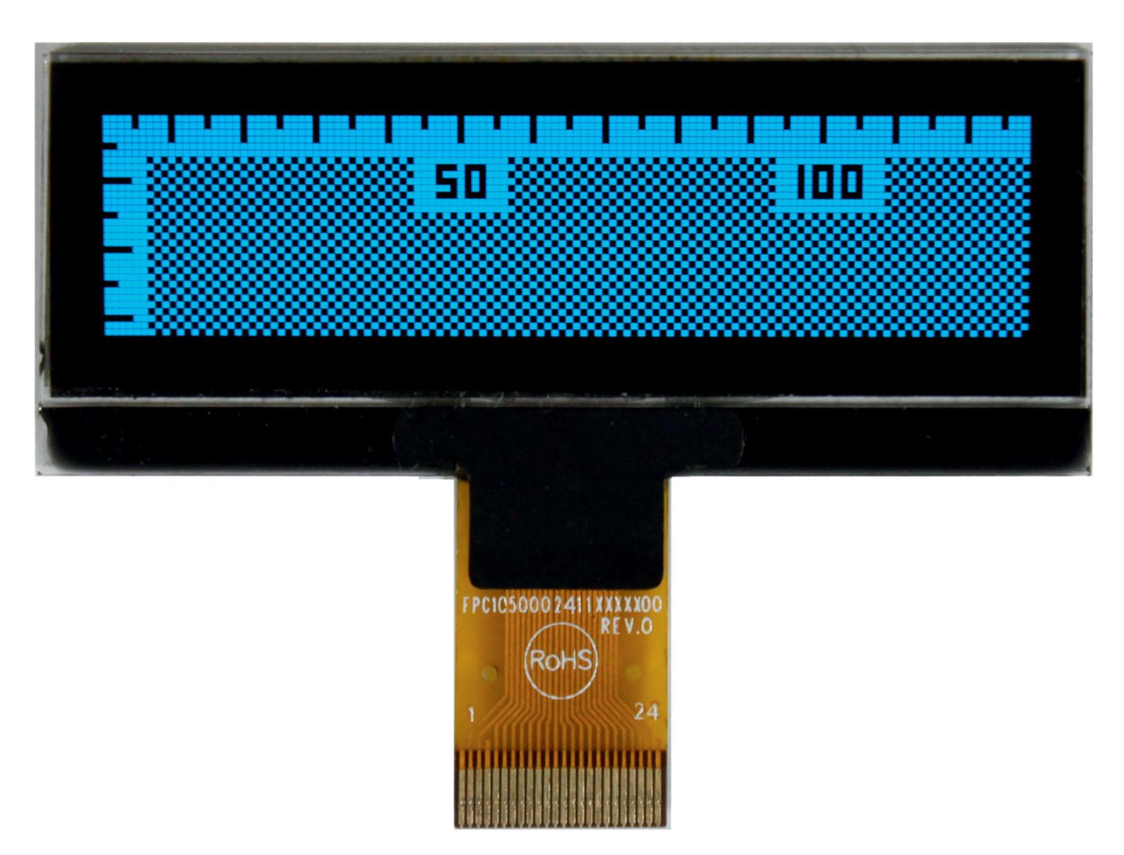 Графический OLED-дисплей REX012832A с синим цветом свечения для мобильных устройств
