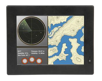 Серия LX – мониторы с сенсорным экраном для морской аппаратуры
