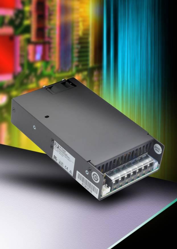 Компактные 320-Вт источники питания AC/DC с высокой удельной мощностью доступны в разнообразных конструктивных исполнениях