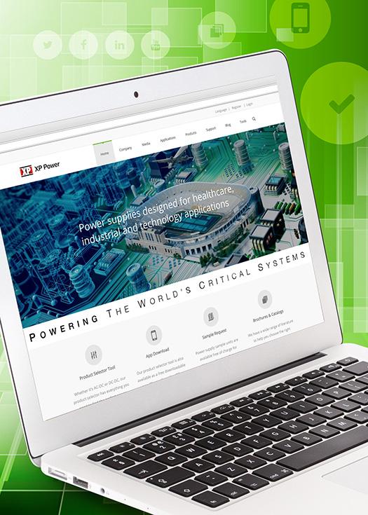 XP Power предлагает расширенные функциональные возможности с запуском нового сайта