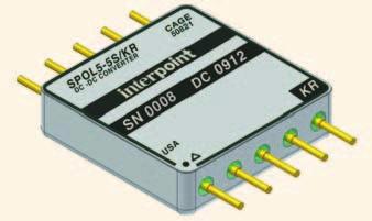 Радиационно-стойкие одноканальные и двухканальные DC/DC-преобразователи типа POL (point-of-load) с выходными токами 5 А