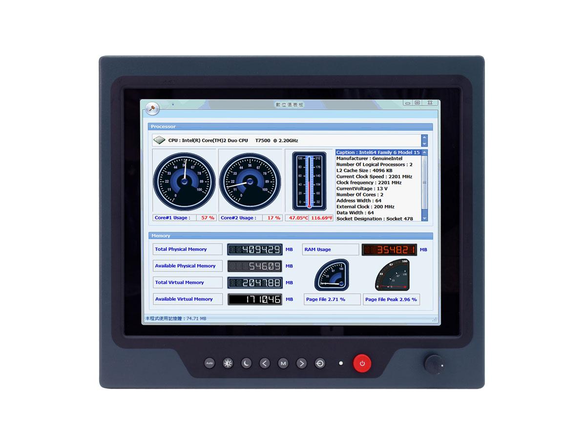 """ЖК-дисплей с проекционно-ёмкостным сенсорным экраном 12,1"""" для применения в аппаратуре морской техники"""
