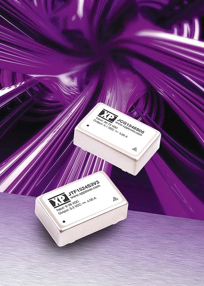 XP Power расширила серии JCG и JTF 15-Вт DC/DC-преобразователей