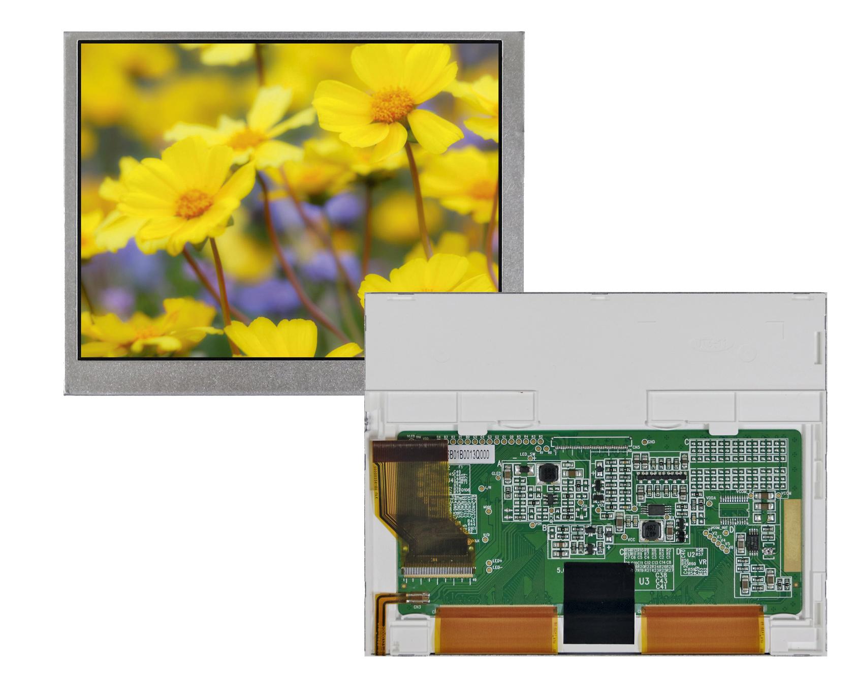 """Цветной 5,6"""" ЖК-дисплей TFT  с разрешением 640 × 480"""
