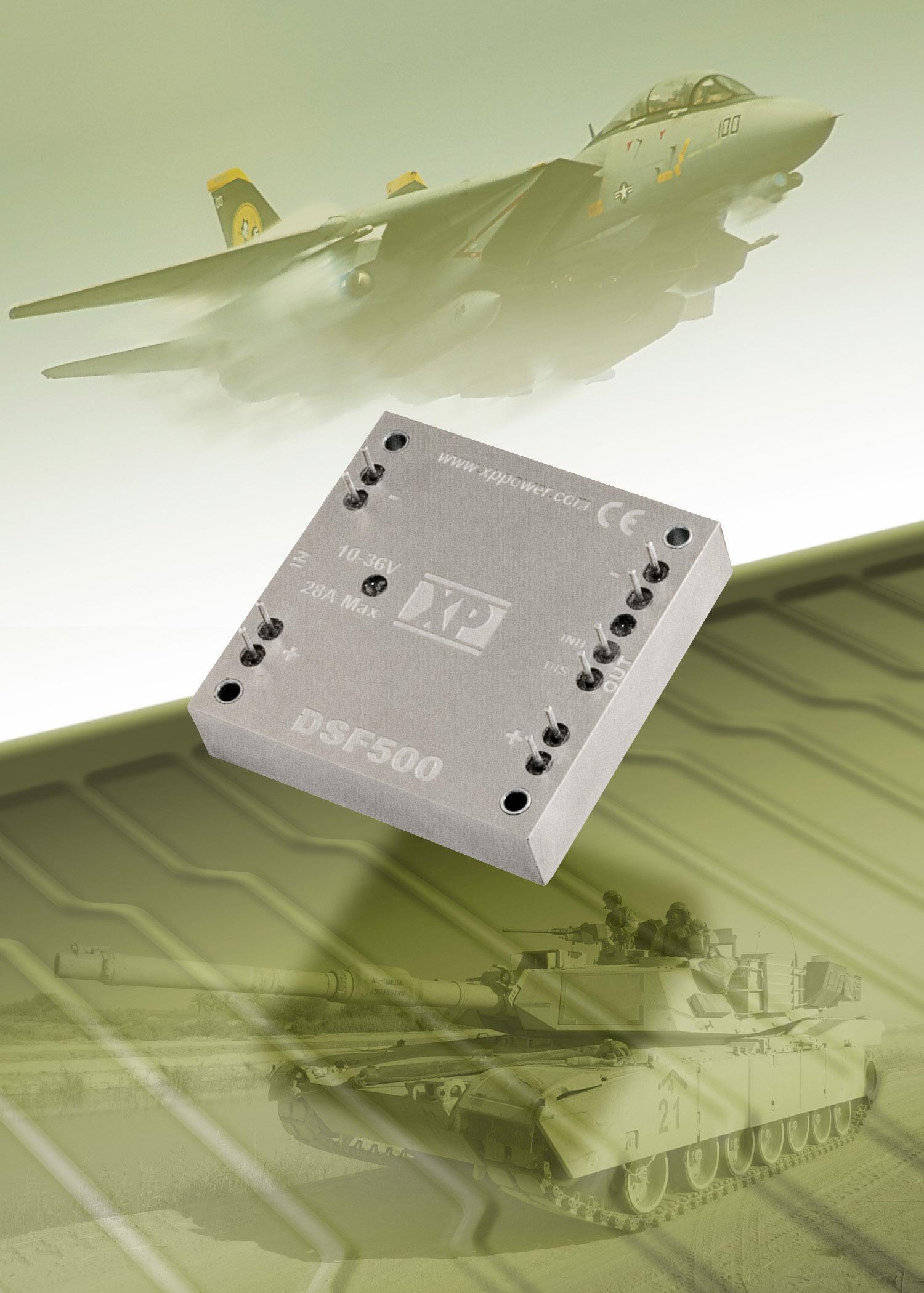 Активный помехоподавляющий фильтр обеспечивает защиту DC/DC-преобразователей в соответствии с требованиями MIL-STD-1275A без применения дополнительных компонентов