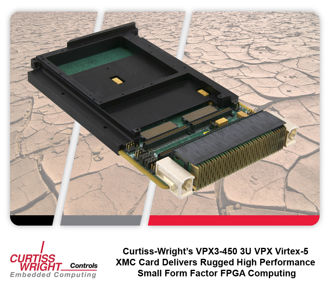 Curtiss-Wright VPX3-450: процессор ЦОС формата 3U VPX на базе FPGA Xilinx Virtex-5