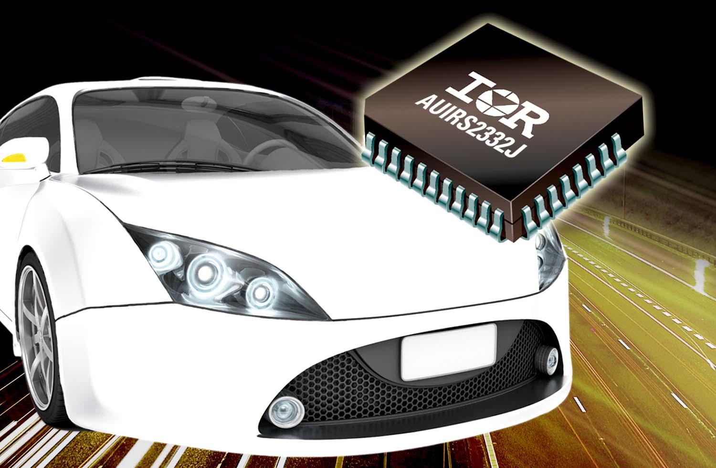 Компактная надёжная 600-В микросхема драйвера затворов AUIRS2332J для применения в автомобильном электрооборудовании упрощает и уменьшает конструкцию