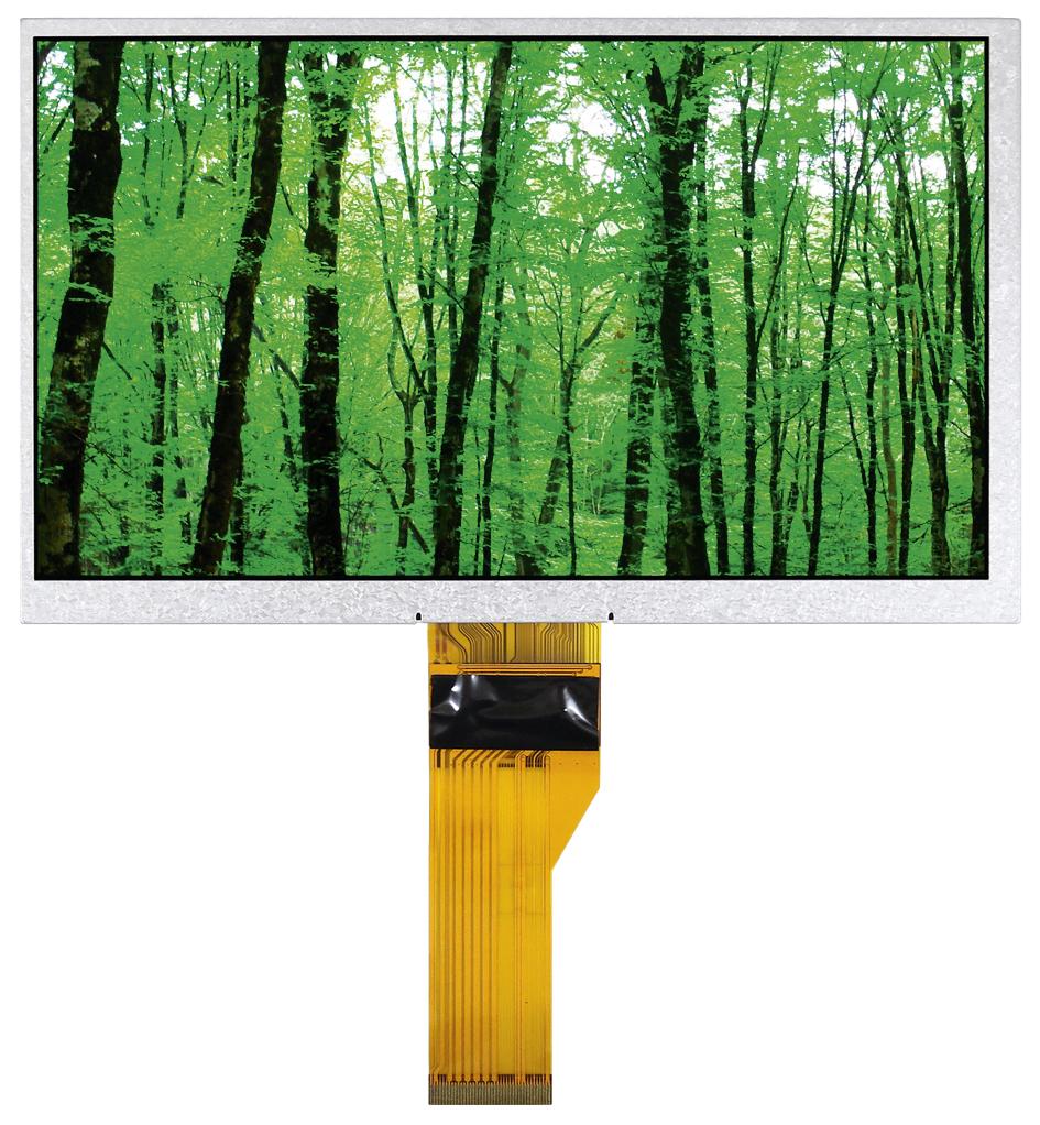 7-дюймовые TFT-панели с интерфейсом LVDS для промышленной электроники