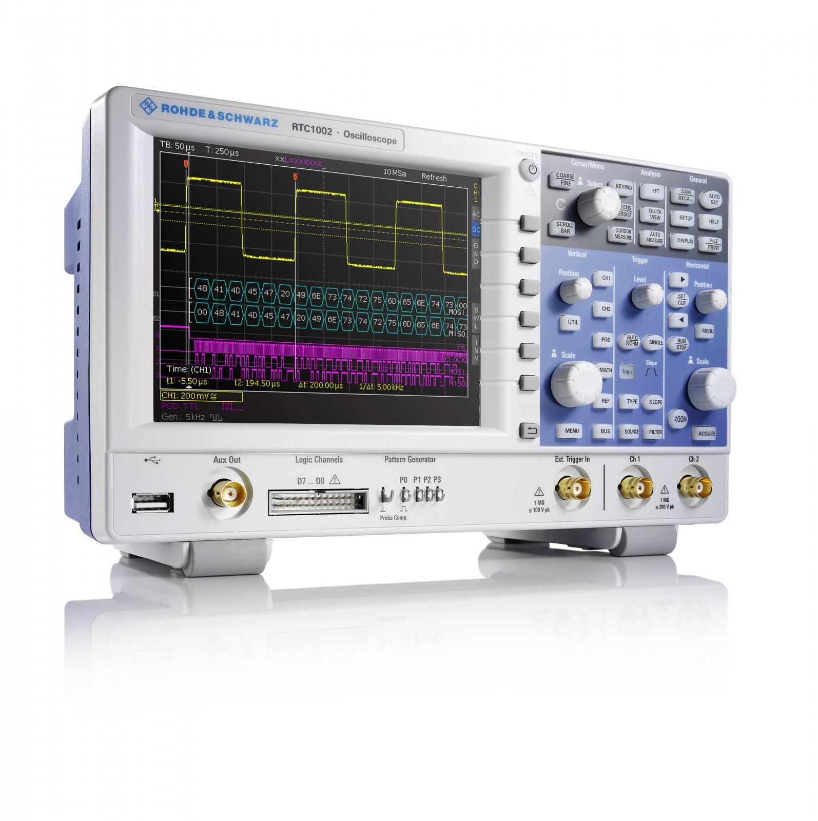 R&S RTC1000 – исключительно компактный, экономичный и высококачественный осциллограф