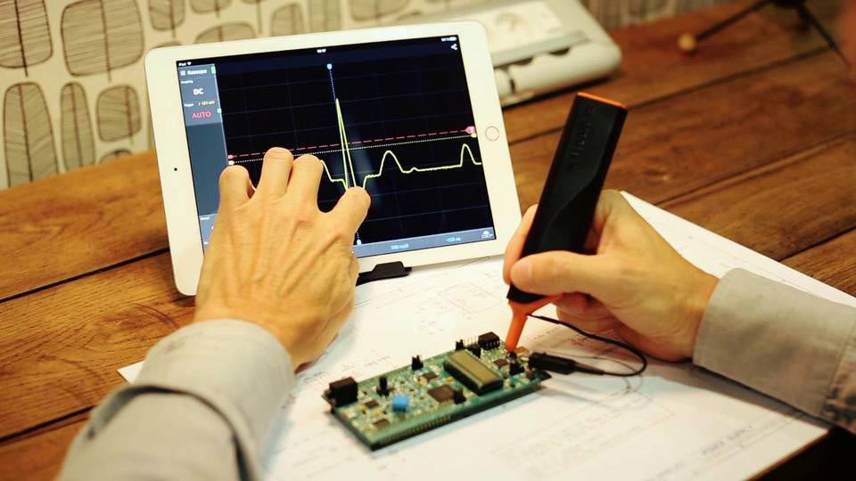 В полку осциллографов на базе ПК новый боец: Wi-Fi-осциллограф IKASCOPE WS200