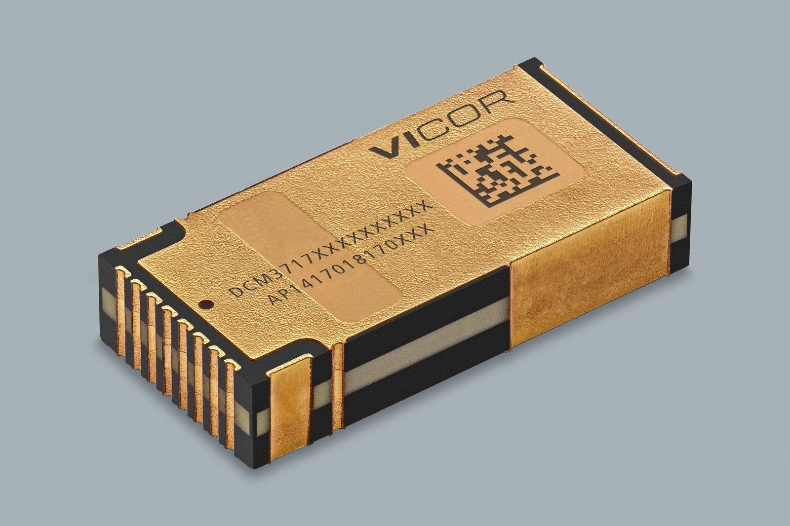 Vicor представляет DCM3717 – преобразователь мощностью 750 Вт 48/12 В с регулируемым выходным напряжением и пиковым КПД, равным 97%