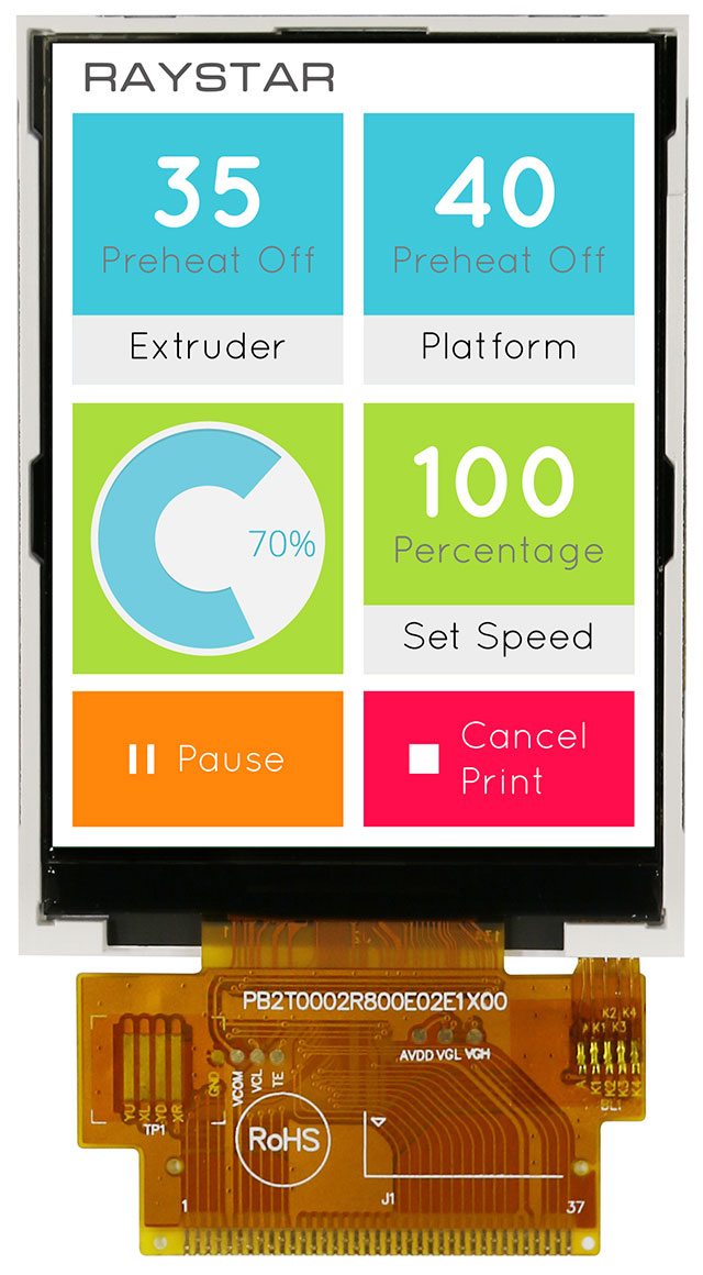 2,8-дюймовый цветной TFT-дисплей для переносных устройств