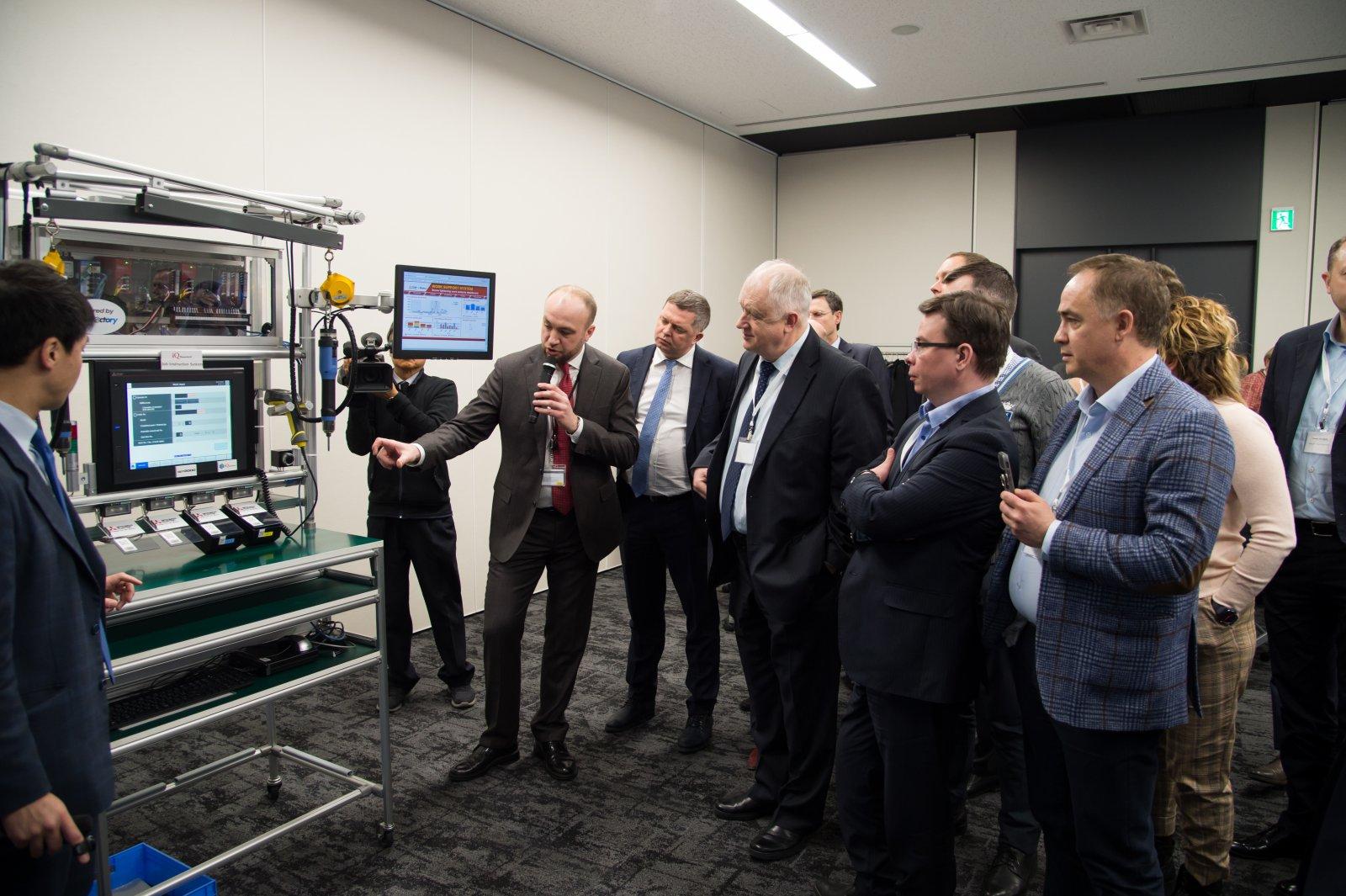 Визит российской делегации на Mitsubishi Electric Nagoya Works