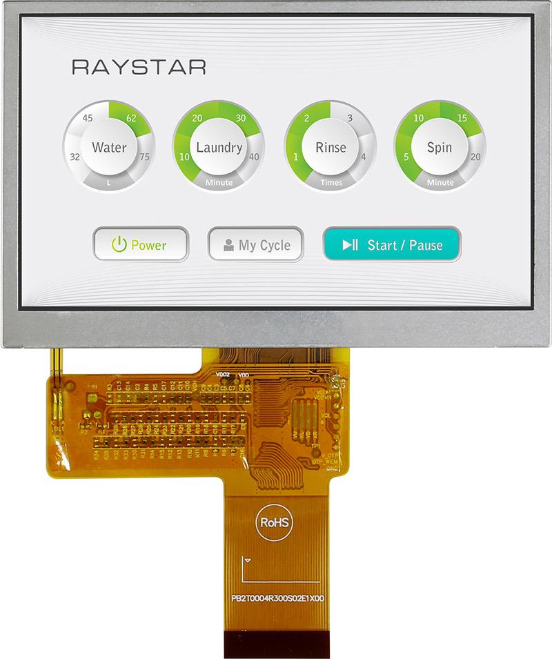 """4,3"""" цветной  ЖК-дисплей с широкими углами обзора для наружных применений"""