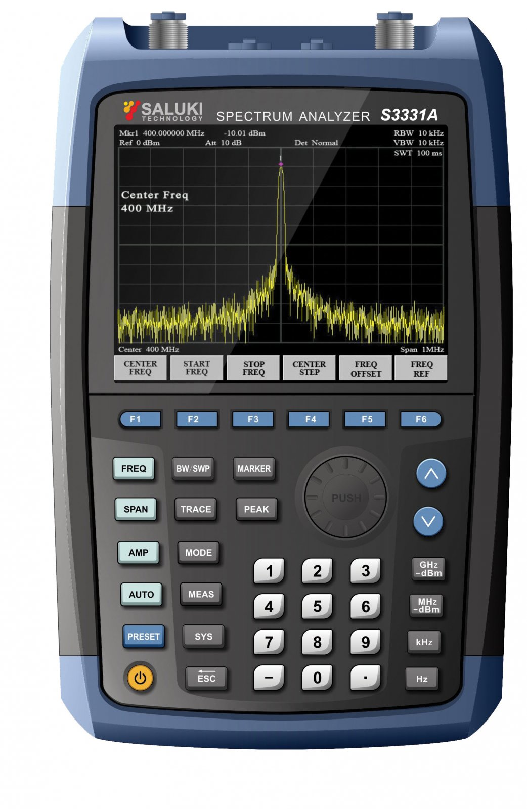 Новая серия портативных анализаторов спектра S3331A/B от Saluki Technology