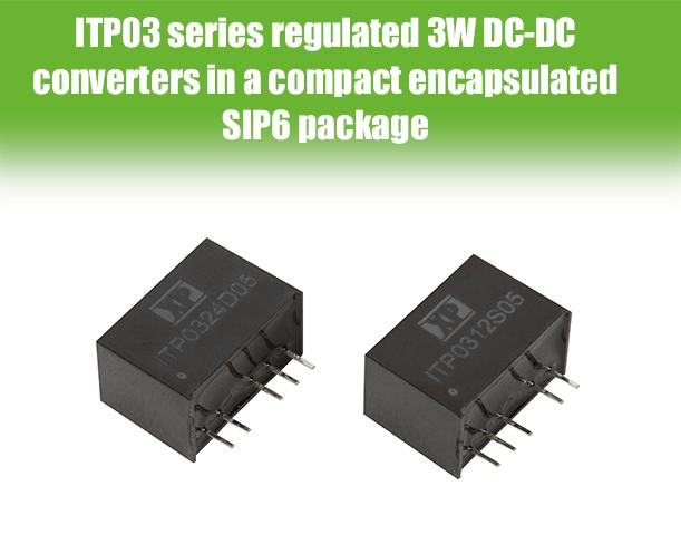 3 Вт DC/DC-преобразователи с широким диапазоном входного напряжения в компактном корпусе SIP6