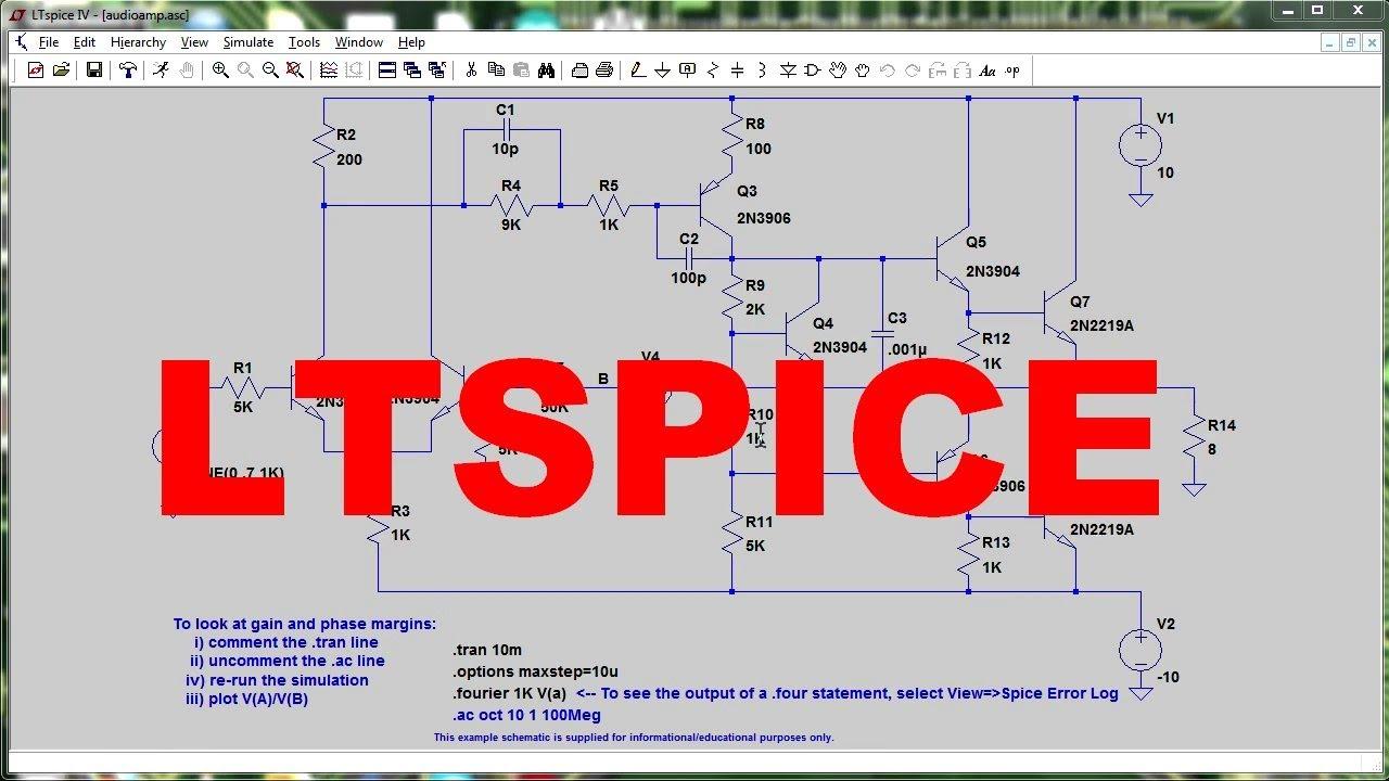 Семинар «Система моделирования аналоговых цепей LTspice»