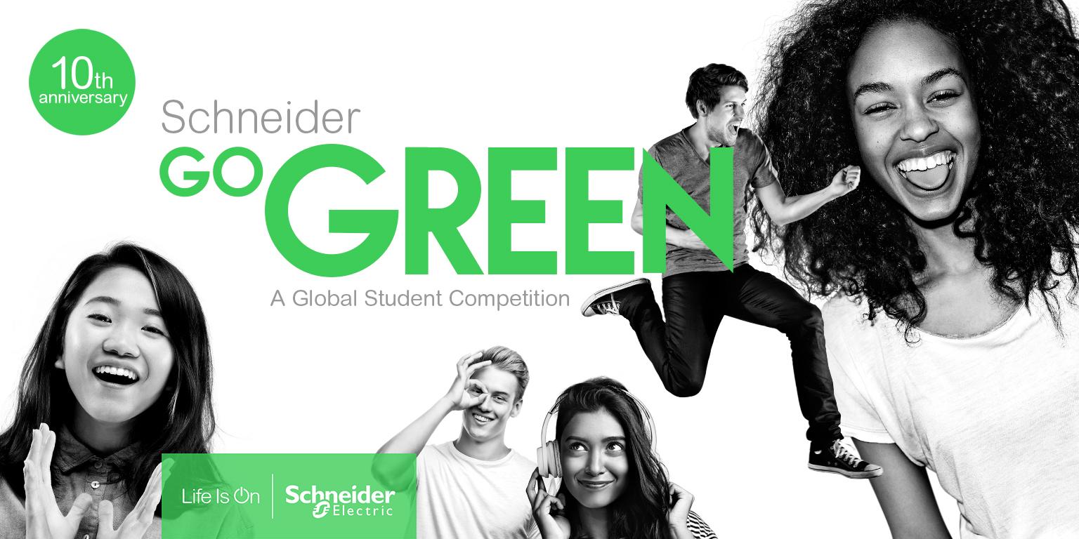 Компания Schneider Electric объявила о старте международного конкурса  для студентов Go Green 2020