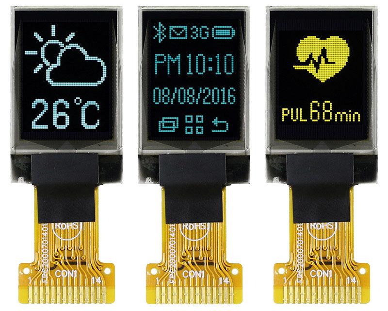 Малоформатный 0,71″ графический OLED-дисплей