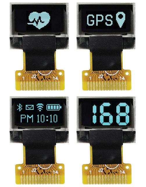 Графические  OLED-дисплеи 0,49″ для носимого оборудования