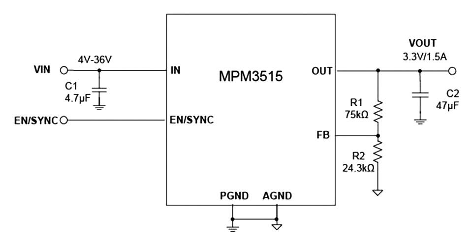 Новый преобразователь MPM3515 с интегрированной индуктивностью