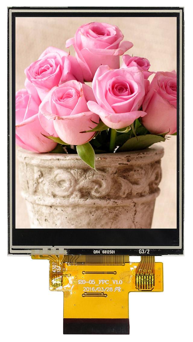 3,2-дюймовый вертикальный цветной дисплей TFT-LCD