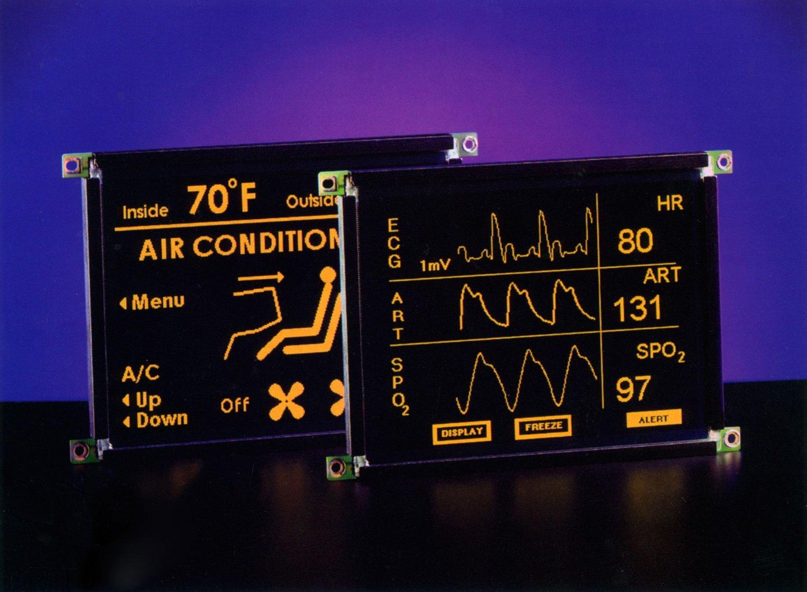 Малоформатные электролюминесцентные дисплеи с усовершенствованным последовательным SPI-интерфейсом