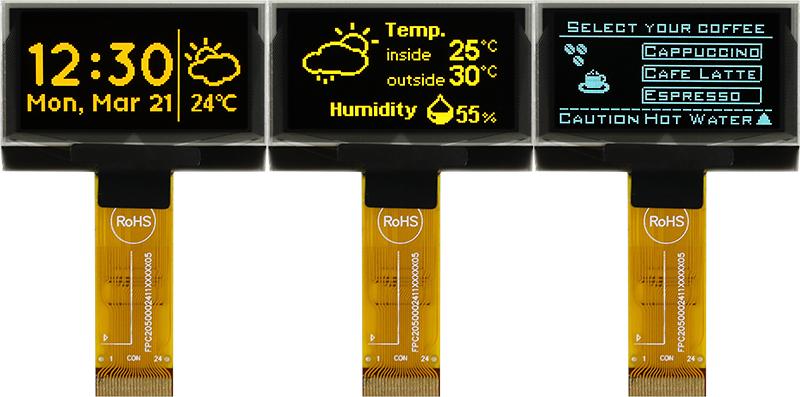 """1,54-дюймовые графические дисплеи OLED размером экрана 1,54"""""""