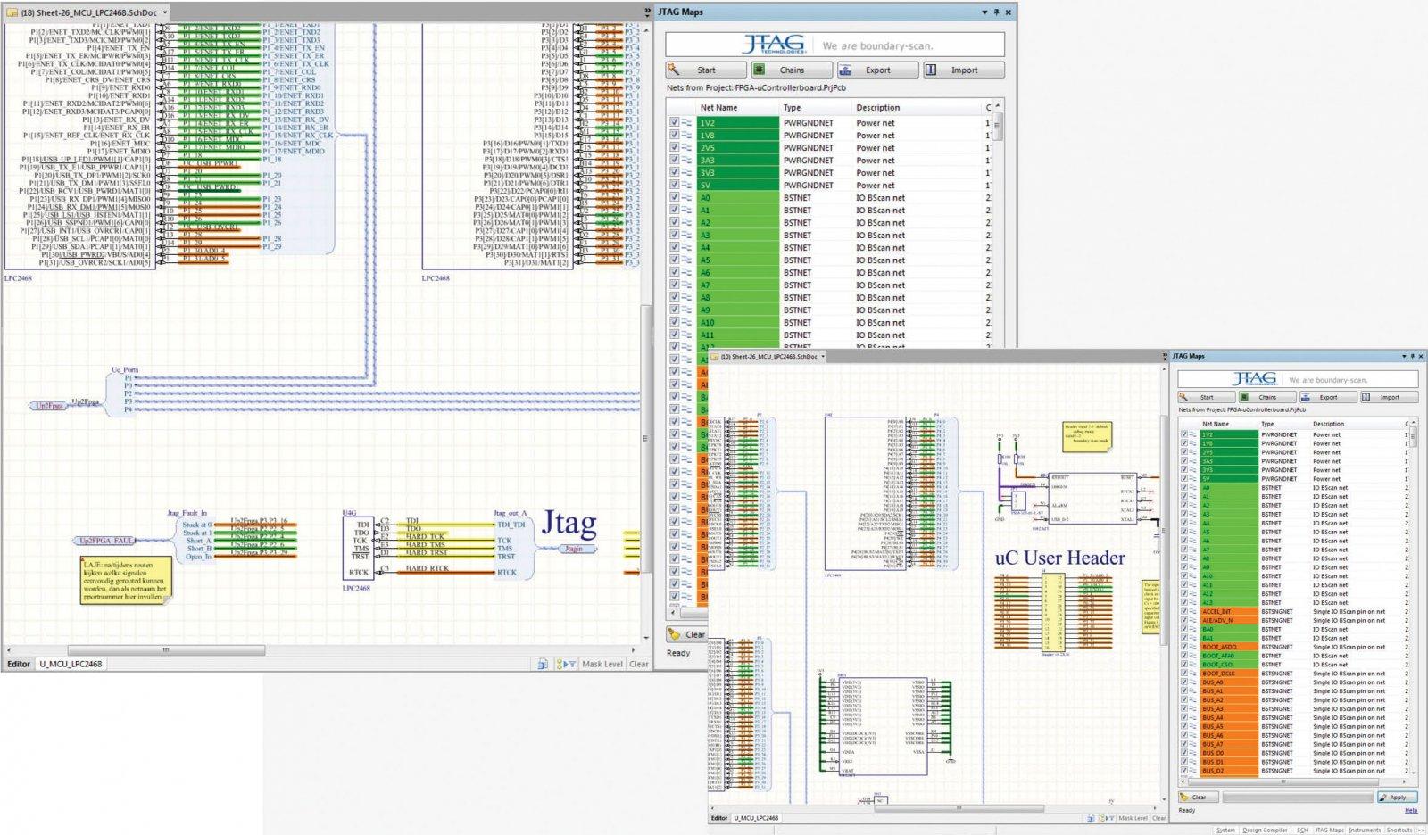 Расчёт покрытия платы  JTAG-тестом  в Altium Designer
