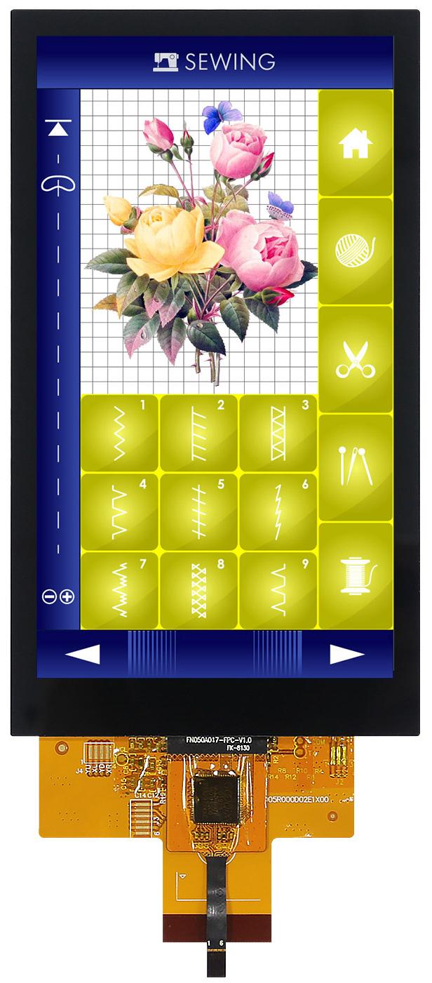 """Цветной 5"""" TFT-модуль с встроенным емкостным экраном"""