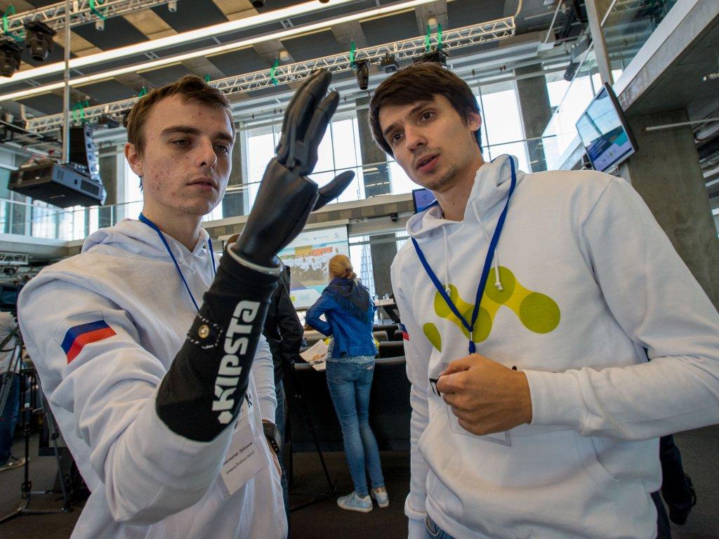 Российские кибатлонисты продемонстрировали свои технологии