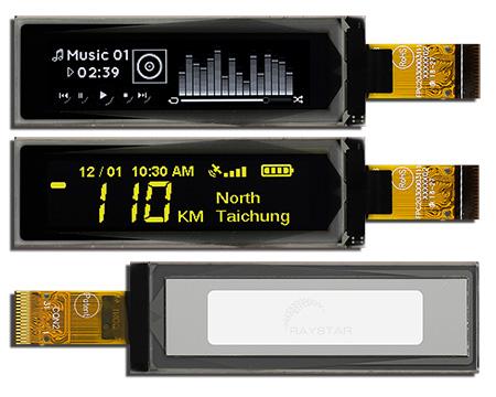 Raystar Optronics, Inc объявила о начале выпуска графических пассивно-матричных OLED-дисплеев серии REX025664A-ZIF