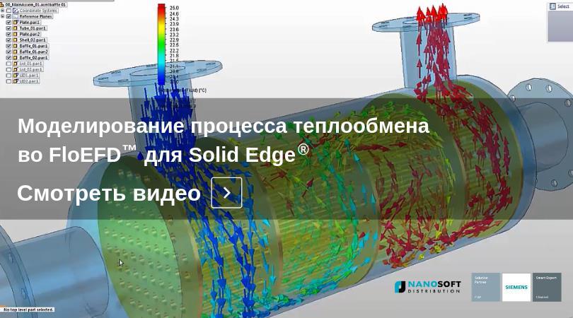 Гидрогазодинамический и тепловой анализ во FloEFD для Solid Edge в серии демонстрационных видео